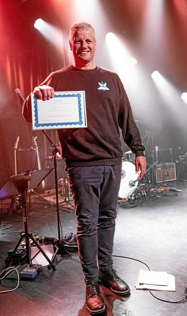 Peter Astrup, Årets Hoochie Coochie Man, på Turbinen i Randers. Foto: Frank Nielsen