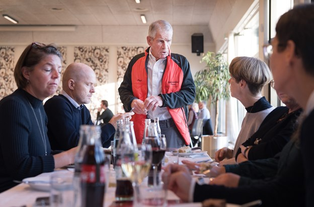 Poul Christensen fejrede i går jubilæum for den forening, som han selv fik idéen til.