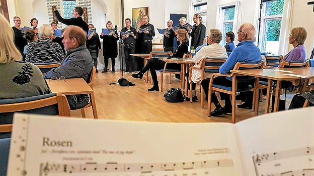 Sangen 'Rosen' er skrevet af Anna Sofie Bielefeldt med melodi af Jens Mathiasen og relaterer til julen. Foto: Karl Erik Hansen