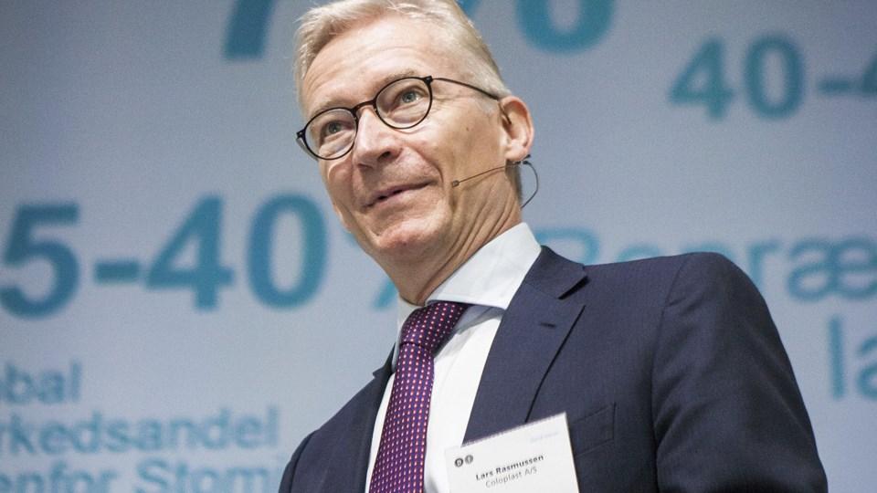 Lars Rasmussen skifter job hos Coloplast. Han går fra at være direktør til at blive formand for bestyrelsen. (Arkivfoto).