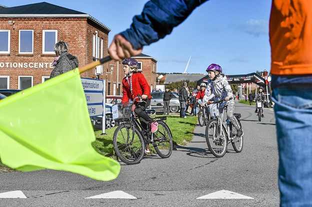 Skoleinspektøren håber og forældrene regner med at cykelsponsorløbet bliver en tilbagevendende årlig begivenhed for skolen. Foto: Ole Iversen