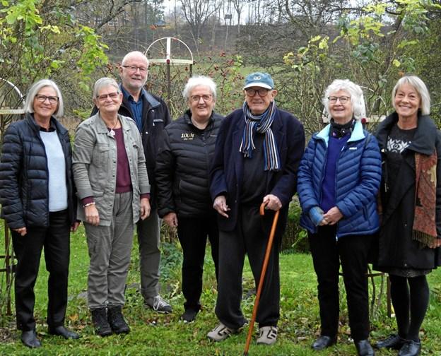 Birgittaforeningens nye bestyrelse i Mariager, minus Bent Walbom der var fraværende, da billedet blev taget. Privatfoto