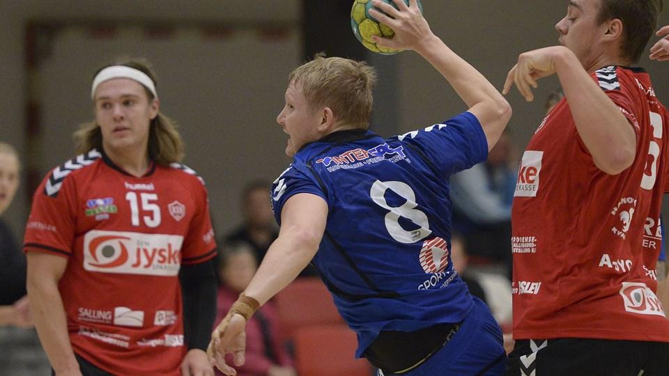 Anders Nielsen bidrog med tre mål til FfI Håndbolds hjemmesejr over Ikast.Arkivfoto: Michael Bygballe