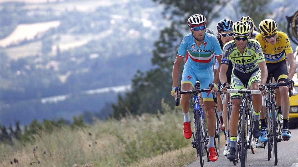 Alberto Comtador skal den næste uge dyste om en plads på podiet i Tour de France. Tirsdag 28. juli kører han måske i Aalborg. Foto: Eric Gaillard/Scanpix