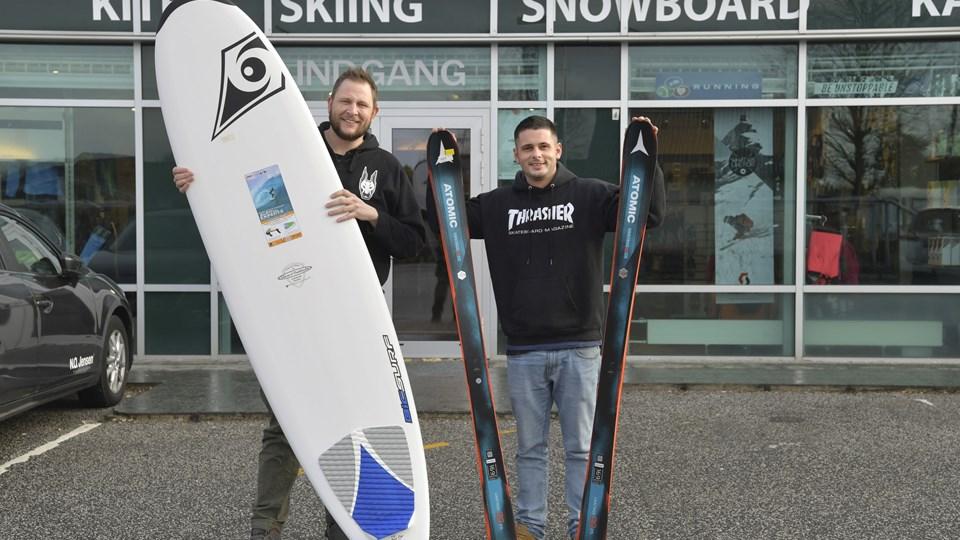 Jens Reese Jørgensen og Jacob Leegaard Christensen har for nylig overtaget Surf og Ski Aalborg og skal ikke nyde noget af et nyt hackerangreb. Foto: Bente Poder
