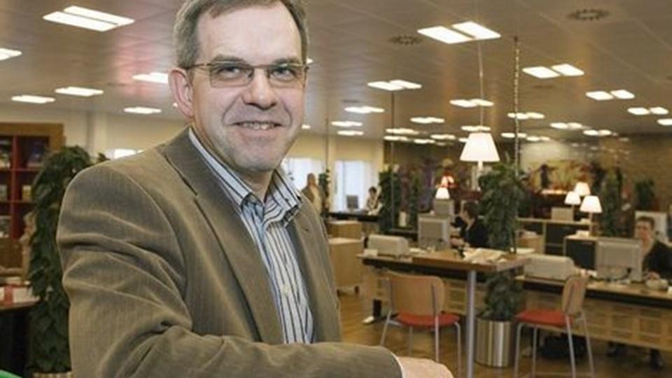 Hans Andreasen elsker sit job som erhvervskundechef. Foto: Henrik Louis