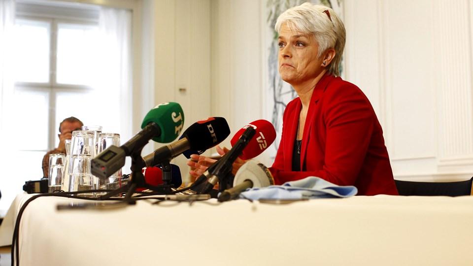 Tidligere formand for SF Annette Vilhelmsen er blevet smidt ud af partiets landsledelse, fordi hun udeblev fra tre møder i ledelsen. Foto: Bax Lindhardt/Scanpix
