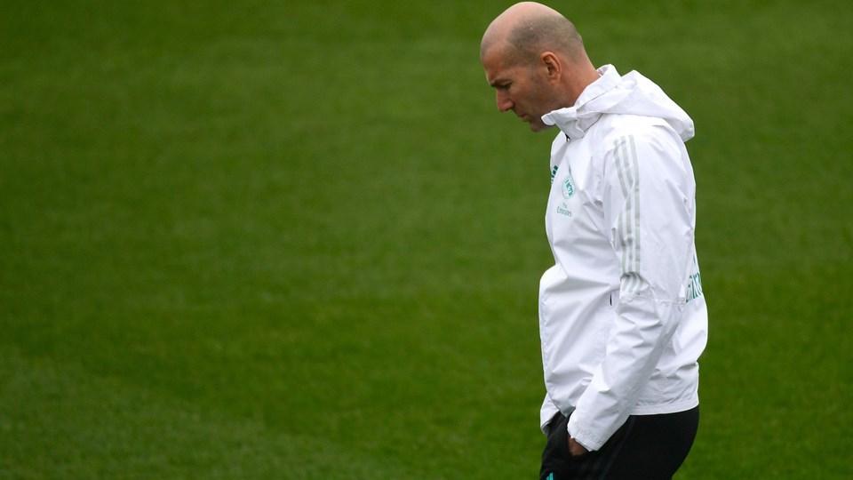 Zinedine Zidane har haft rigeligt at tænke på i denne sæson. Onsdag fik Real Madrid lidt oprejsning, da storklubben gik videre i pokalturneringen. Foto: Scanpix/Pierre-philippe Marcou