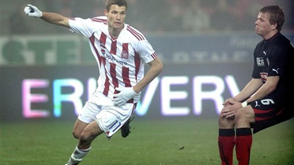 Nicklas Helenius' mål har nu gjort ham til et transferobjekt for Roda.  Foto: Michael Koch