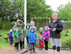 Børnehaven i Vittrup gl. Mejeri har hejst Det Grønne Flag
