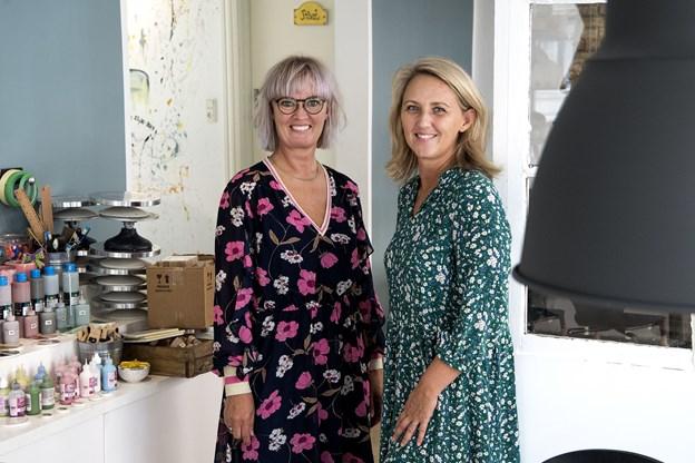 Annette Terp og Mette Fruensgaard glæder sig over den store opbakning til Art by Me. De tilbyder også events, kurser og foredrag.