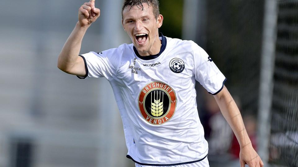 Jens-Kristian Sørensen kom på måltavlen for anden kamp i træk mod Roskilde. Foto: Lars Pauli