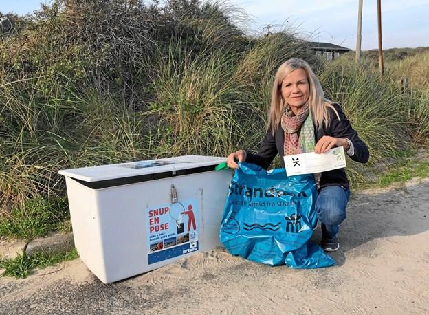 Laila Zielke vil udbrede Kystlotteriet som et middel til at rense stranden for affald.   Privatfoto