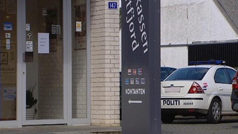 Sparekassen Midtfjords afdeling i Overlade blev udsat for røveri 28. august. Arkivfoto