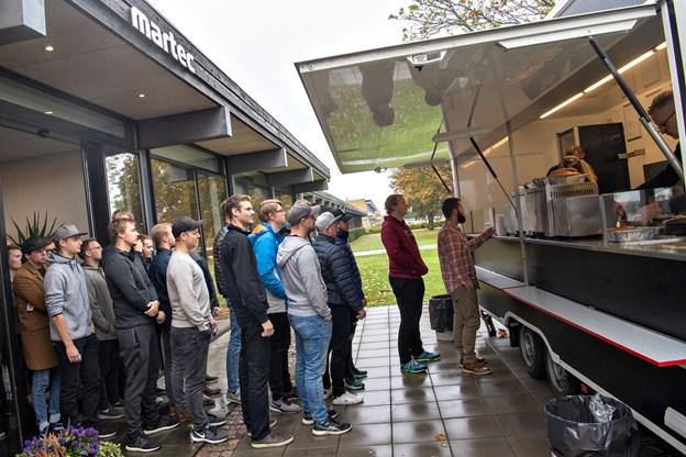 352 pølser blev uddelt til studerende og ansatte. Foto: Kim Dahl Hansen
