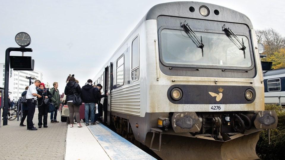 Jernbanen bliver elektrificeret inden 2025. Arkivfoto