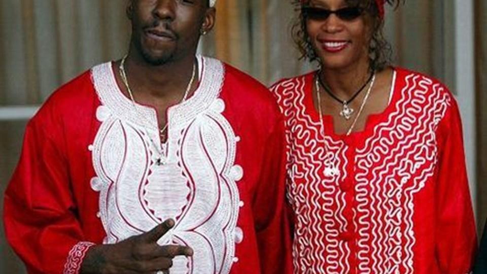 Whitney Houston her sammen med eksmanden Bobby Brpwn, da tilværelsen så lidt lysere ud.