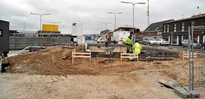 Byggeri af havnecafé i gang ved Jollehavnen
