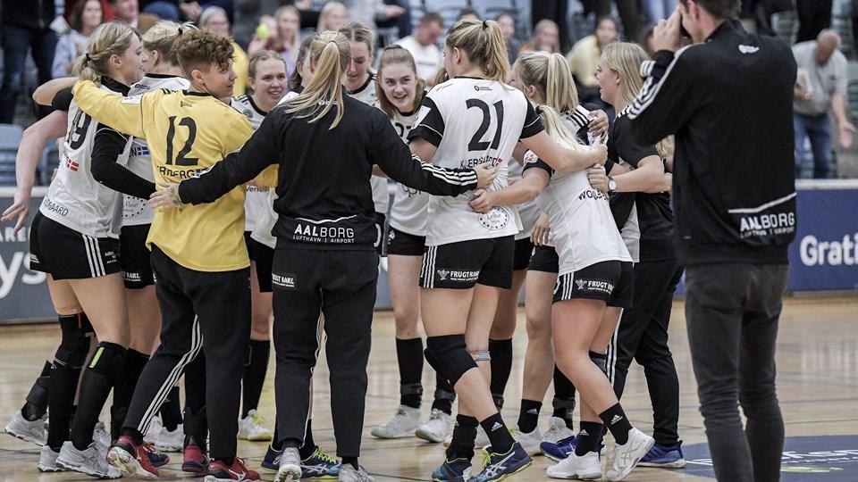 EH Aalborg har fået en god sæsonstart - senest med sejr over Horsens. Foto: Lars Pauli