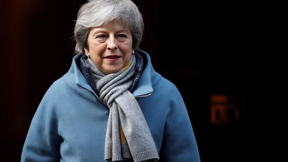 Med stemmerne 412 mod 202 har det britiske parlament torsdag aften støttet regeringens forslag om at bede EU om udsættelse af brexit. Ifølge flere britiske medier vil premierminister Theresa Mays næste skridt være for tredje gang at fremsætte sin plan for skilsmisse med EU. Den er blevet nedstemt to gange tidligere. (Arkivfoto).