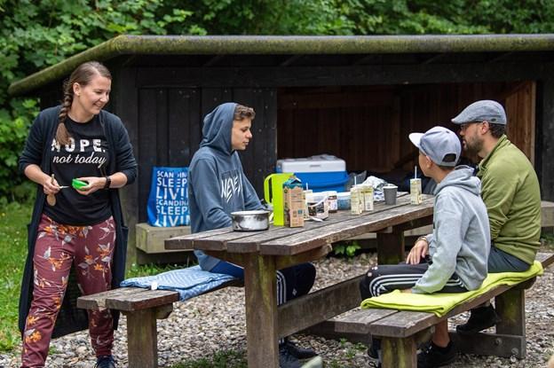 Familieferie i den nordjyske natur: - At sove i shelter giver mere plads i budgettet