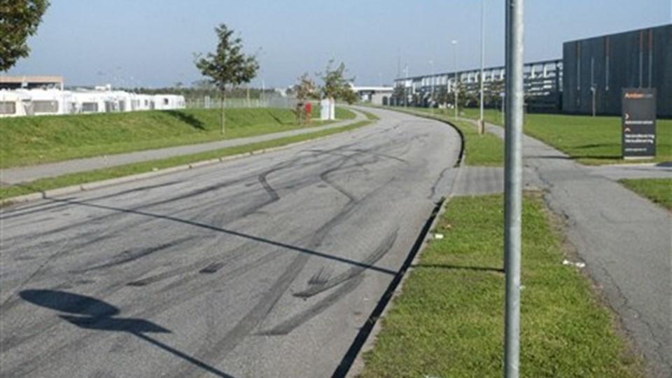 Kun ærindekørsel er tilladt på det område, hvor der køres ræs i Støvring. Foto: Mette Nielsen.