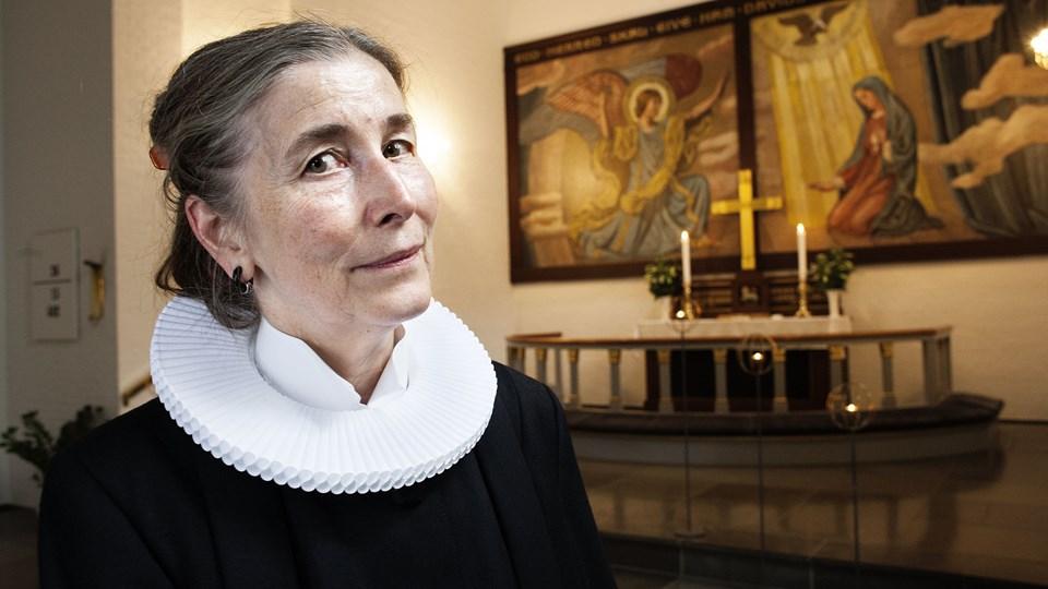 Anne-Mette Gravgaard er præst i Davids Kirke i København. Hun er gået på pension som sognepræst, men virker fortsat som præst. (Arkivfoto.)