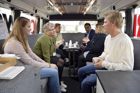 Se billederne: NORDJYSKE-bussen på besøg i Støvring