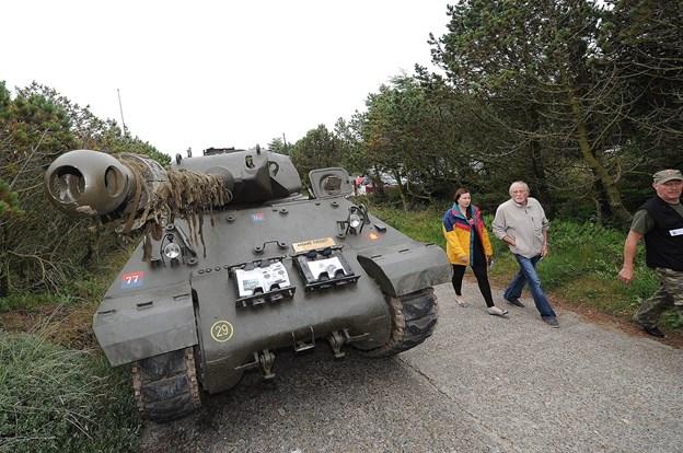 På træffet ved Bunkermuseum Hanstholm er der mulighed for at se en rigtig tank fra 2. verdenskrig.Arkivfoto: Ole Iversen