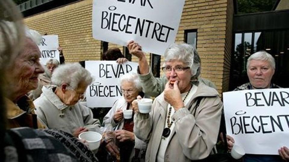 Op mod 200 ældre demonstrerede. FOTO: Michael Koch