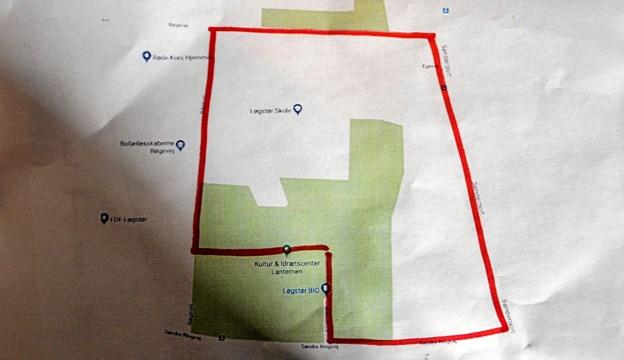 Ruten i området omkring Lanternen på 1,25 km. Foto: Mogens Lynge
