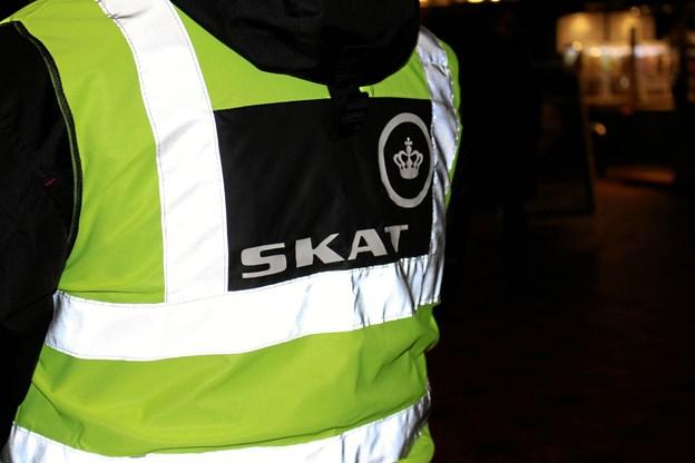 SKAT besøgte seks virksomheder i Aalborg. Foto: SKAT