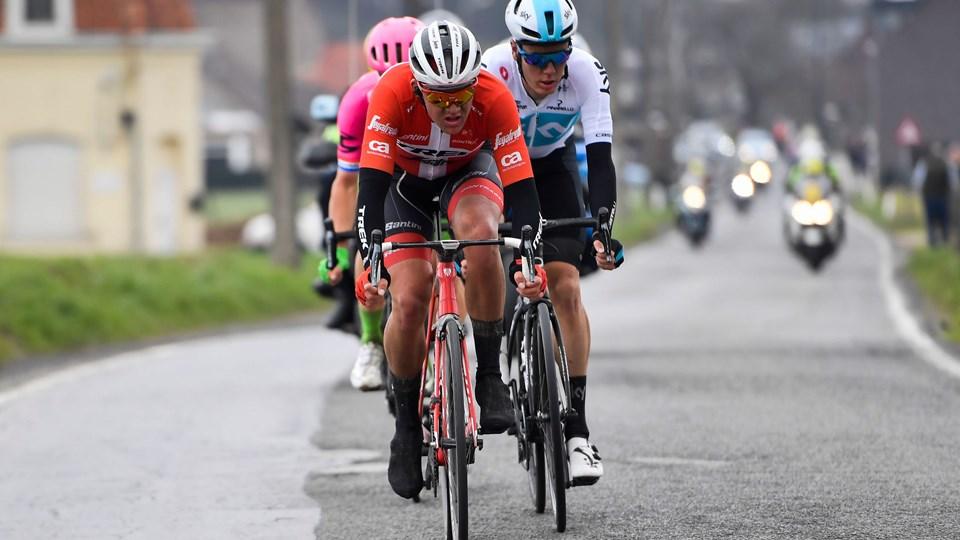 Den danske mester, Mads Pedersen (Trek), leverede søndag karrierens største resultat med en andenplads i Flandern Rundt. Foto: Scanpix/Dirk Waem