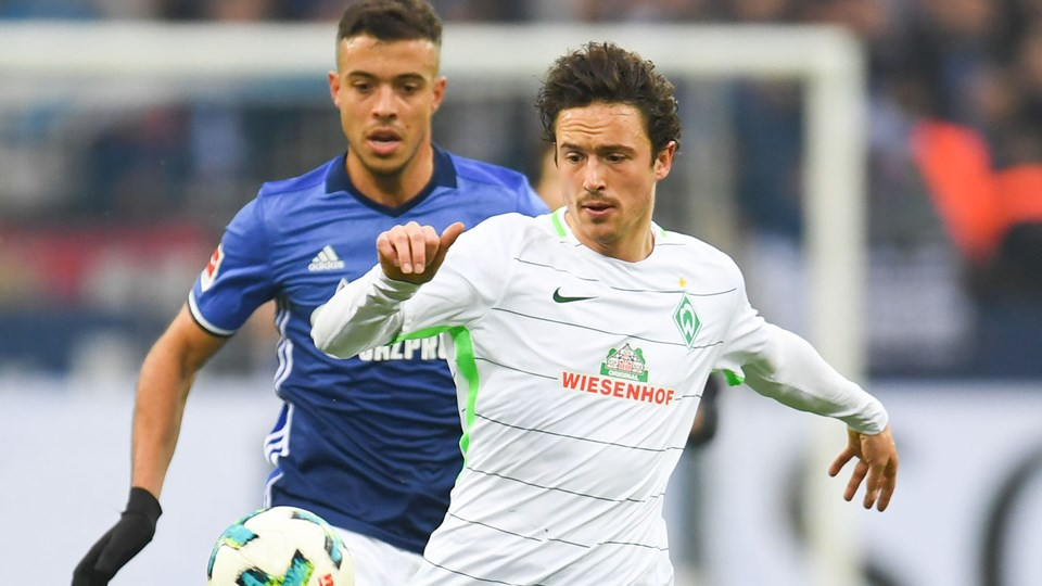 Thomas Delaney og Werder Bremen møder på lørdag Hamburger SV i Bundesligaen. Foto: Scanpix/Patrik Stollarz