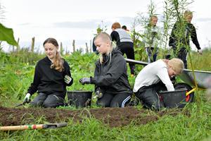 Nyt projekt vækker børns interesse for naturen: - Jeg vil dyrke mine egne gulerødder