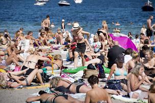 Varm europæisk vind giver en sommerlig start på ugen
