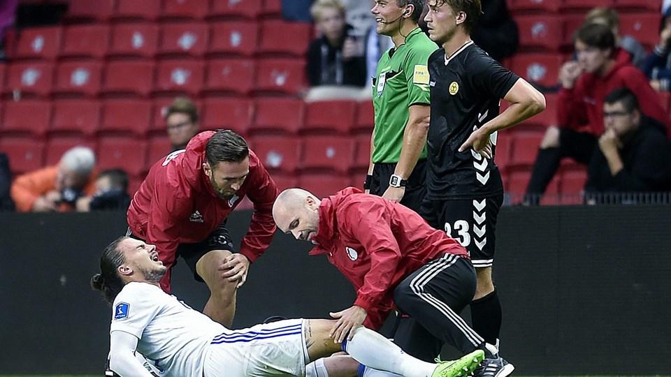 Erik Johansson får mellem 45 og 60 minutter i en reserveholdskamp mod Helsingør efter sin lange skadespause, siger Ståle Solbakken. Foto: Scanpix/Liselotte Sabroe/arkiv