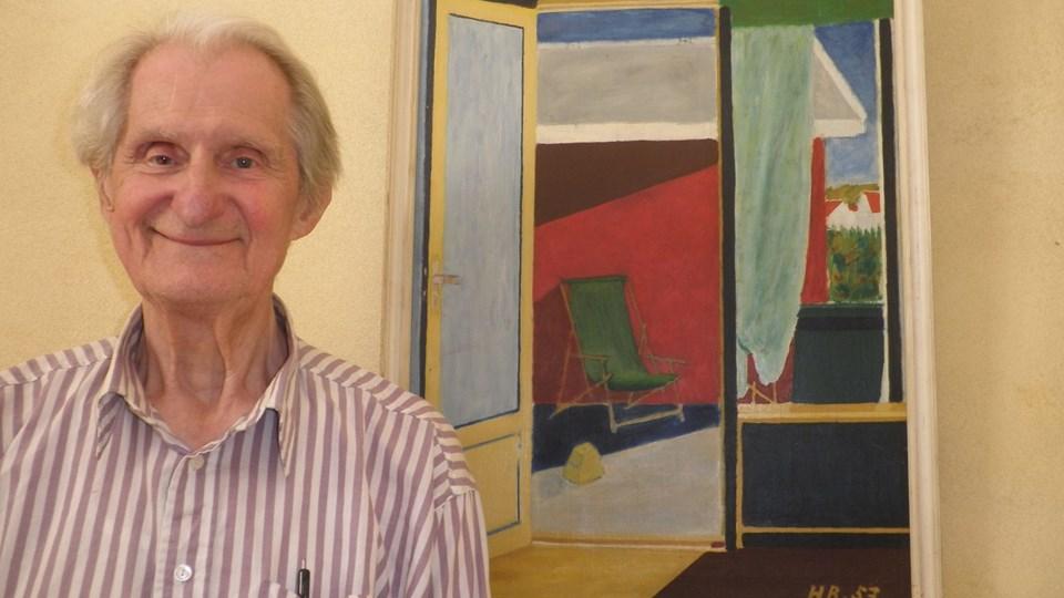 Hovard Borggaard var i mange år et skattet medlem af Aalborg Symfoniorkester som violinist, men livet igennem har maleriet også været en del af hans tilværelse