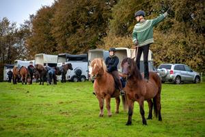 Se billederne: Ryttere og kuske på tur i Rold Skov