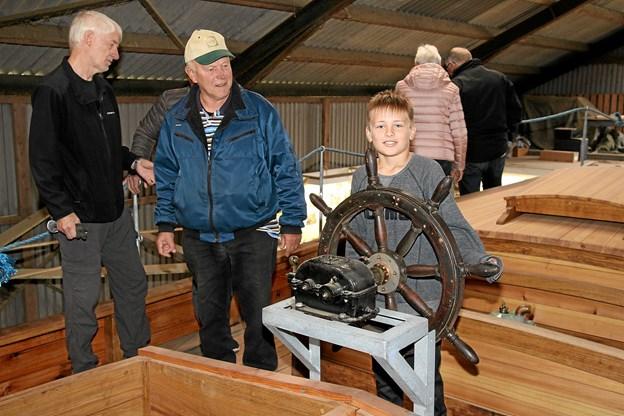 David Schlotfeldt Jensen vil en dag måske være skipper på Gølbåden.