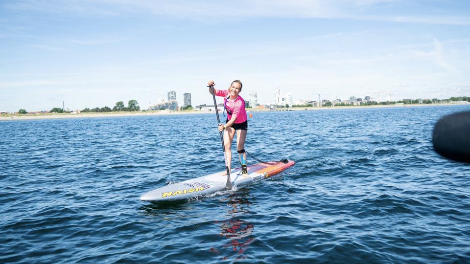 Danmarks bedste kvindelige stand up paddler hedder Caroline Küntzel. Hun er blot 16 år og bor i Thisted. Privatfoto