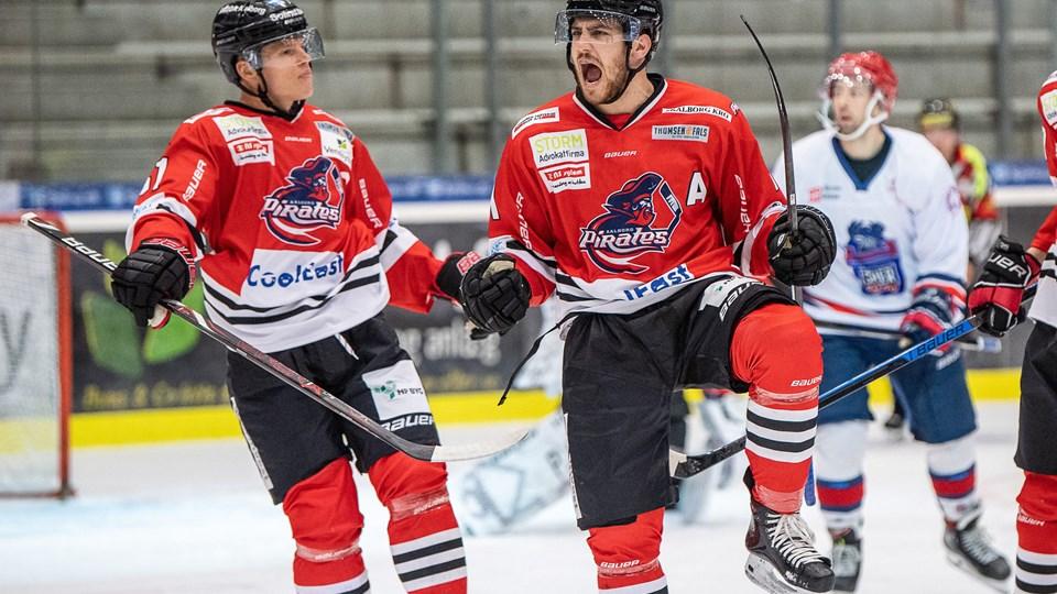 Aalborg Pirates hentede den fjerde sejr på fire kampe. Foto: Peter Broen
