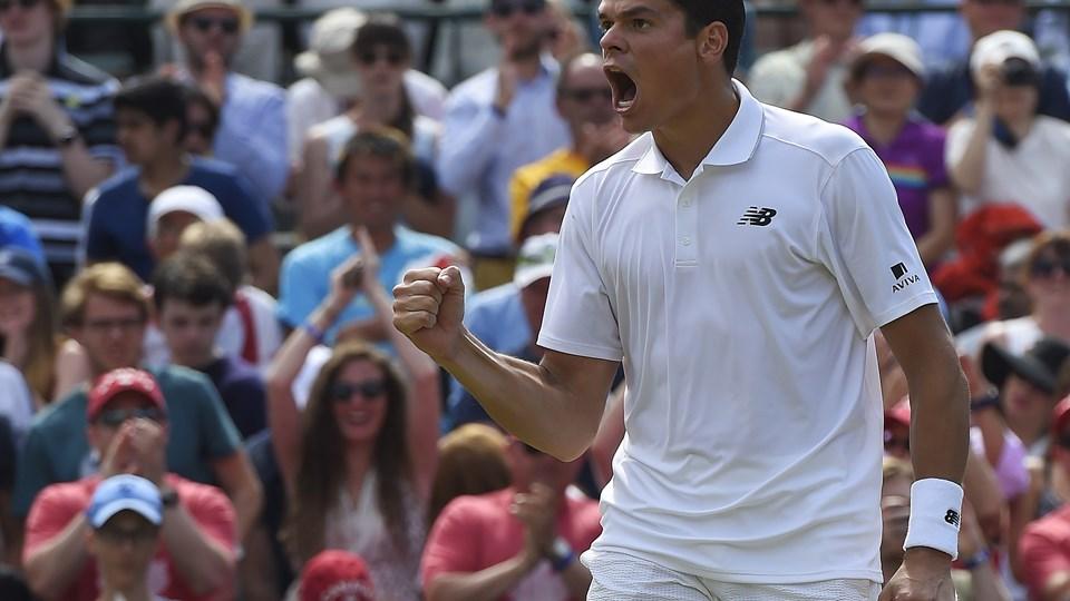 Milos Raonic er klar til finalen ved Wimbledon. Arkivfoto: Toby Melville/Scanpix