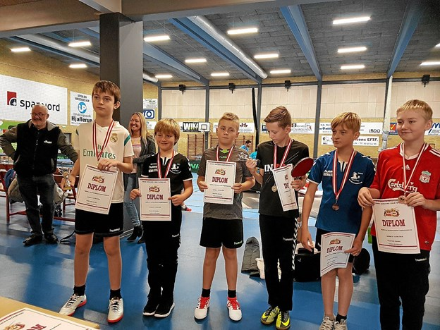 Deltagerne i Ungdom 1. Vinder blev Lucas Brandbirg, V. Hassing, som står længst til venstre. Privatfoto