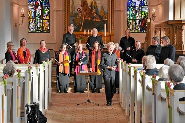 Kammerkoret Al Dente sang i Løgstør Kirke til 125 års jubilæet. Foto: privatfoto