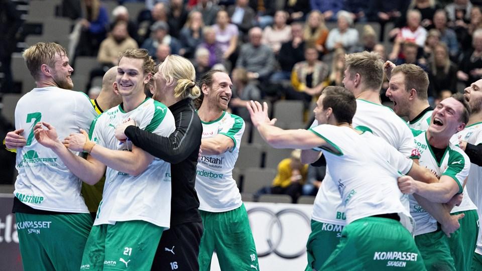 Skanderborg - her efter en kamp i sidste sæson - kunne fejre en komfortabel sejr over KIF.