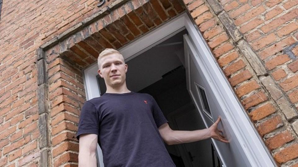 Magnus Saugstrup er en rigtig Aalborg-dreng. Foto: Lasse Sand