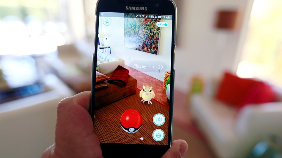 Når man downloader appen bliver man mødt af et kort, der baserer sig på Google Maps. Ved hjælp af kortet kan spilleren så se hvor i nærheden der er placeret Pokémons. Foto: Sam Mircovich, Scanpix