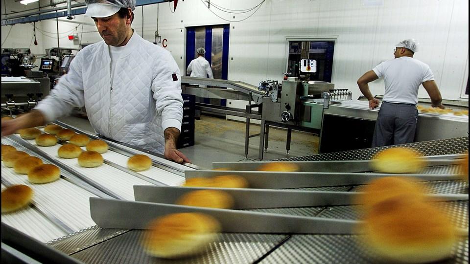 Schulstads oplysninger peger umiddelbart på, at der er tale om en kontamination af brødene, som er sket under produktionen på en brødfabrik i Pandrup. På billedet ses en af Schulstads andre fabrikker i Avedøre (Arkivfoto).