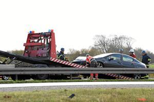 Motorvej blev spærret efter uheld